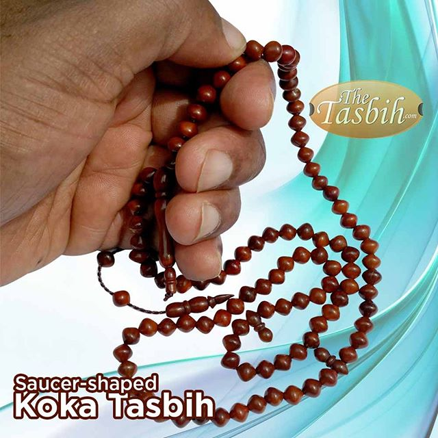 Natural Handcrafted Saucer-shape Beads Genuine Kuka Tasbih