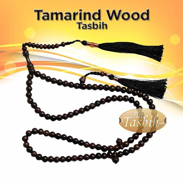 Unique 6mm Tamarind Fruit Tree Wood Tasbih with Copper-decorated Tassels