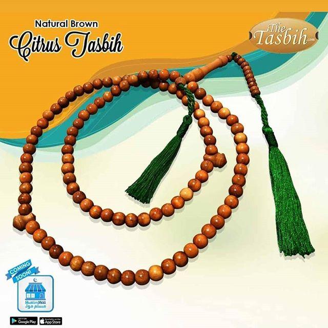 Citrus Wood Tasbih Prayer Beads