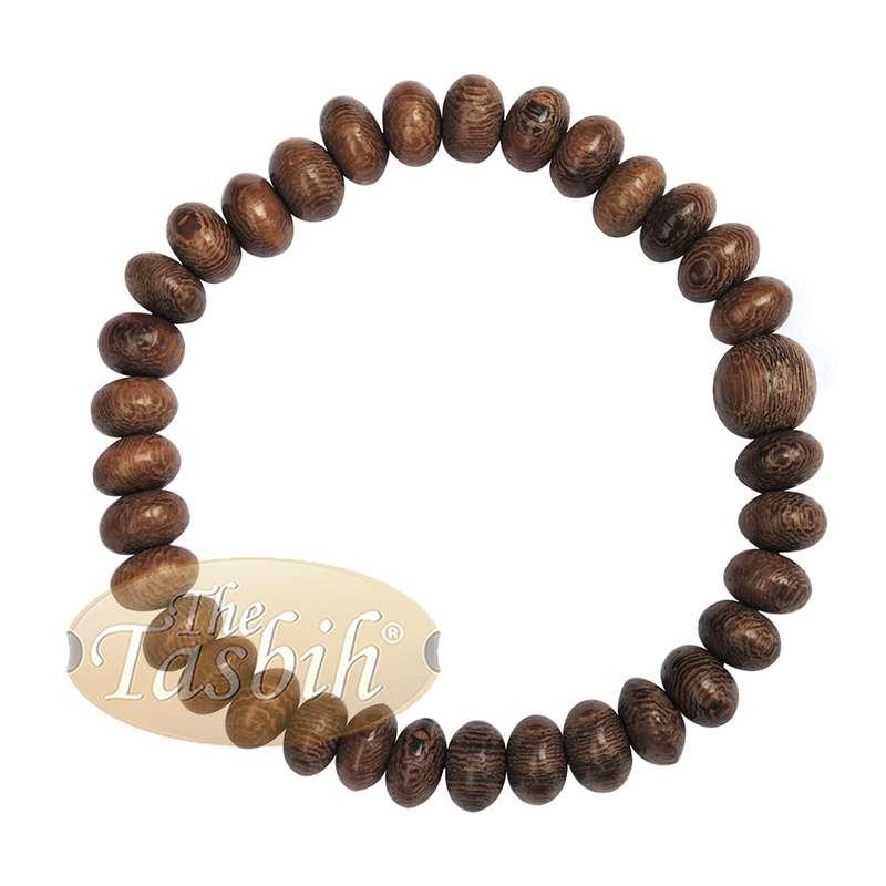 Johar Wood 33-bead Elastic String 9mm Prayer Bead Bracelet