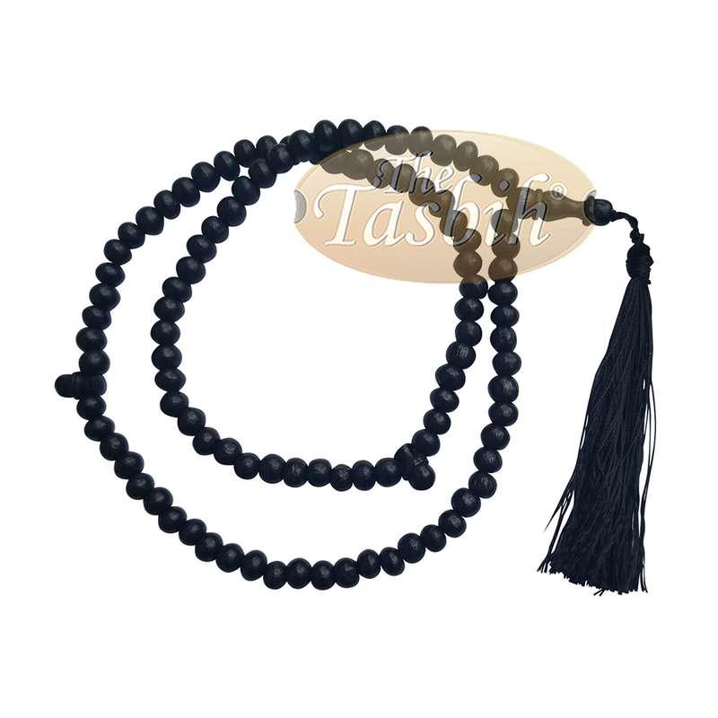 Low-price Handcrafted Black Rustic Wood Tasbih Muslim Prayer Beads