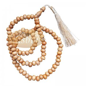 Low-price Handcrafted Brown Rustic Wood Tasbih Prayer Beads With Strong Soft Tassels