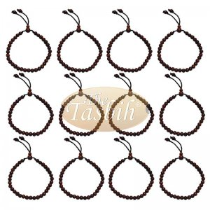 Lot Of 12 Handmade Ironwood Stigi 6mm Exotic 33-bead Bracelet Tasbih