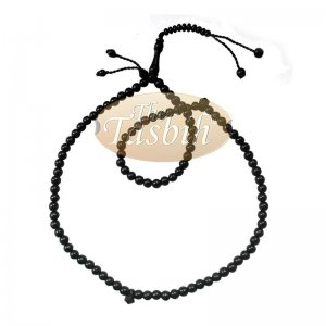 Black 8mm Citrus Wood Muslim Prayer Beads Extra Counters Bead Stops