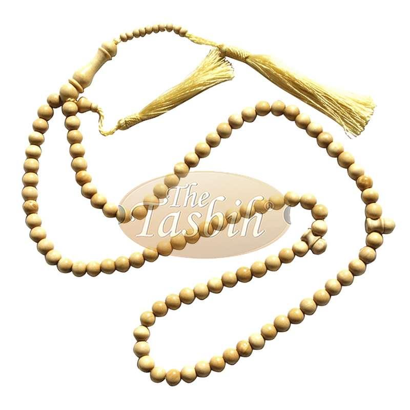 12 Natural Yellow Citrus Tasbihs 8mm 99-bead Prayer Beads 2 Tassels