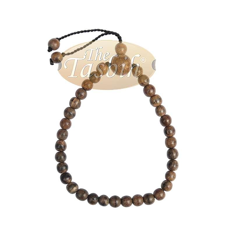 X-Small 5mm Oud Aloeswood Tasbih Bracelet 33-Bead Adjustable