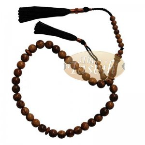 Natural Oud Aloeswood 33-bead Prayer Bead Rosary 8mm Beads Tassels