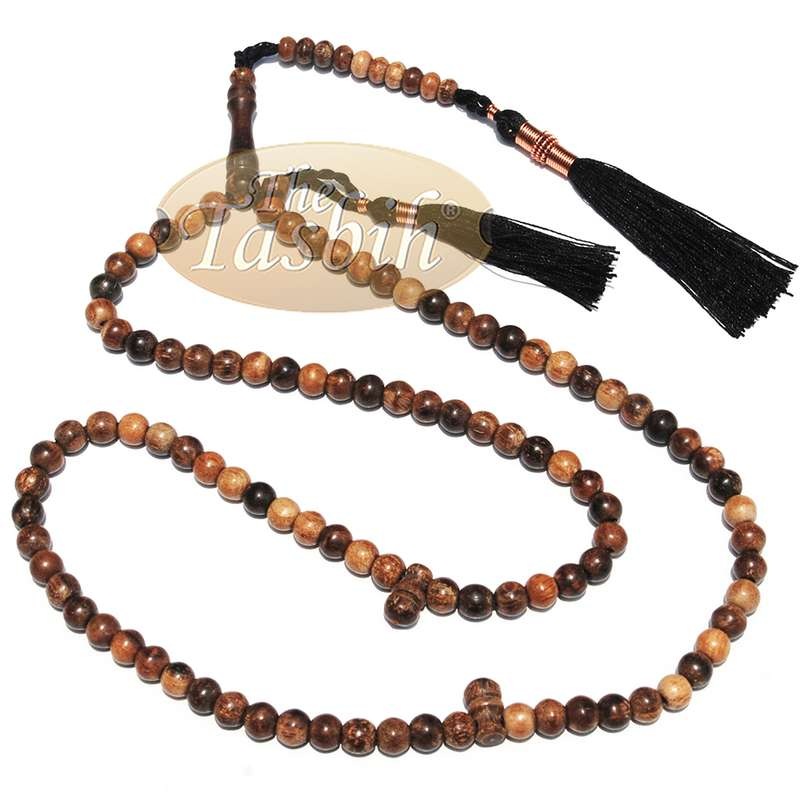 Oud Aloeswood Tasbih Zikir Prayer Beads 6mm with Natural Oud Scent
