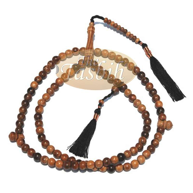 Large 9mm Oud Aloeswood Tasbih Prayer Beads Dhikr Natural Oud Scent