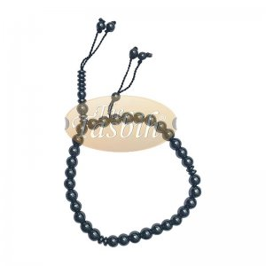 Round 33-Bead Tasbih Hematine Beads 8mm Double Dividers