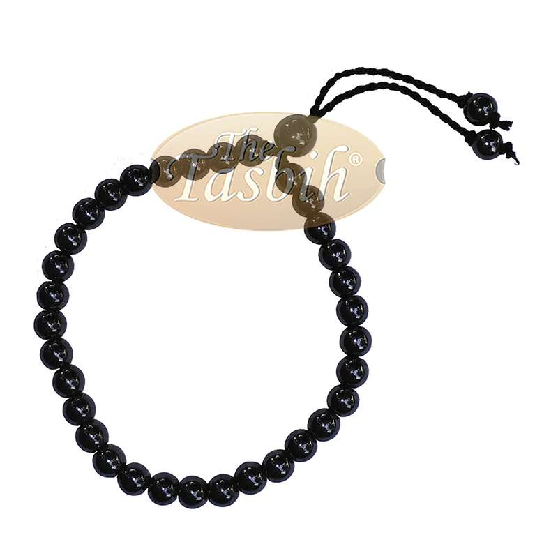 Stone Bracelet 33-bead Hematite 6mm Beads without Dividers Zikr