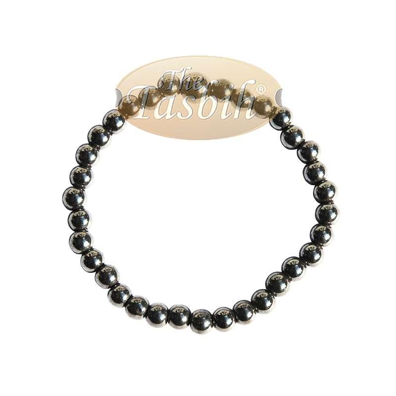 Natural 6mm Hematine Tasbih 33-beads Bracelet