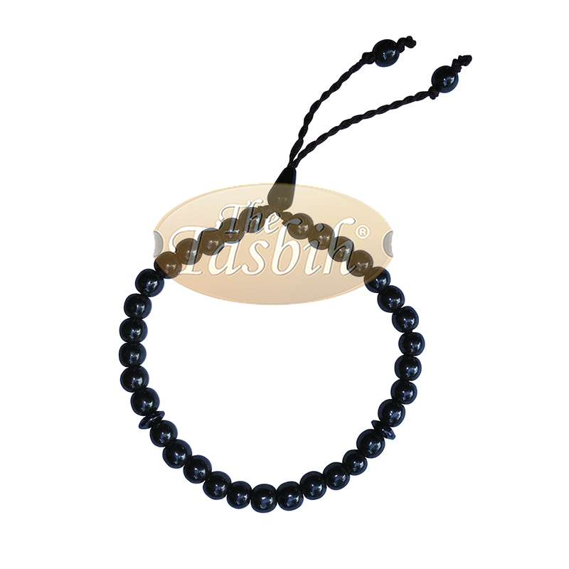 Islamic 33-bead Bracelet Hematite 6mm Beads Dividers Prayer Beads
