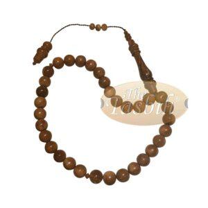 10mm Exotic Kuka 33-Bead Tesbih Prayer Beads Ottoman Style Alif