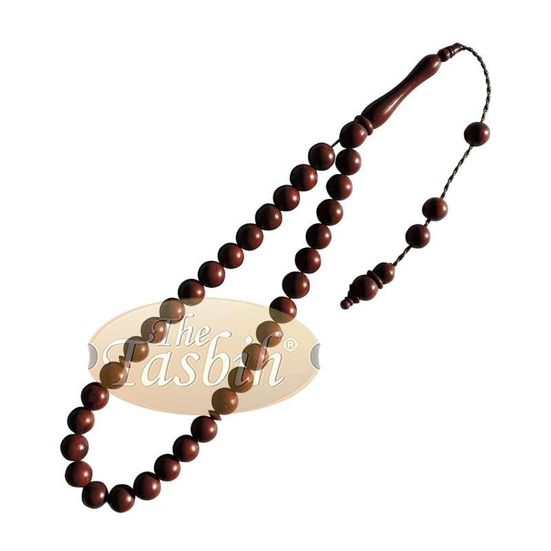 Small Dark Brown 8mm Round Bead 33-bead Turkish Kuka Prayer Beads