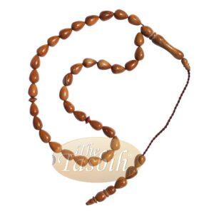 High Quality 7x10mm Pear Shape Natural Kuka Koka Color 33-bead Tasbih Muslim Subha