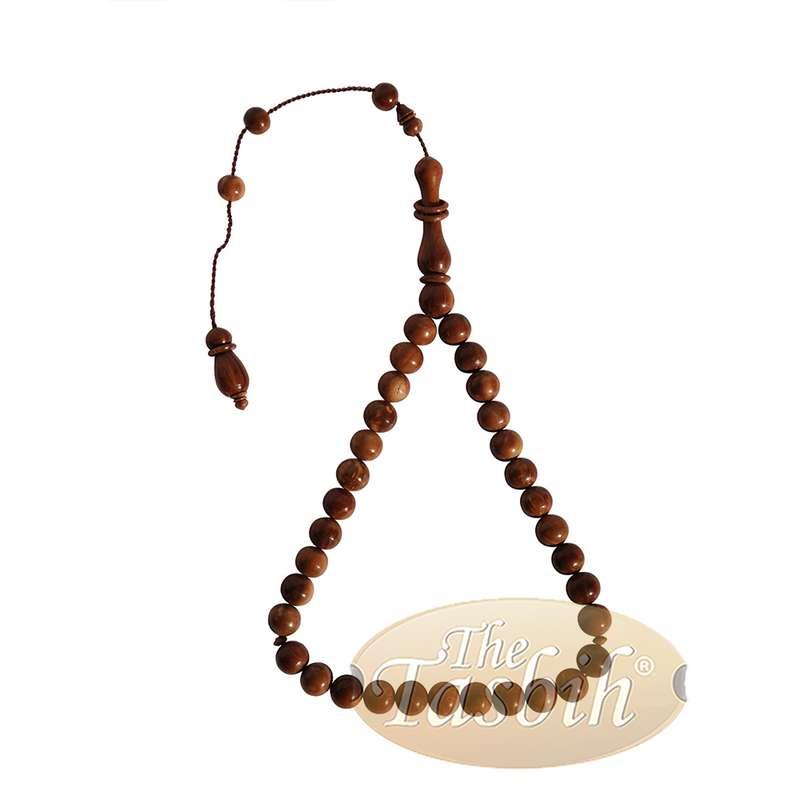 10mm 33-bead Round Beads with Rings on Alif Tasbih Prayer Beads
