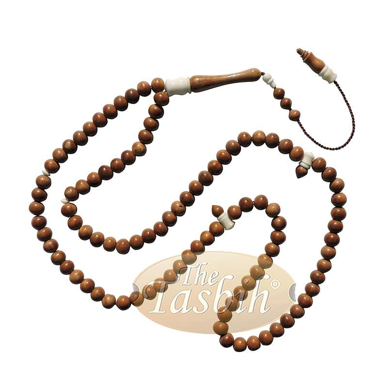 Tesbih 9mm Turkish Koka Kuka Prayer Beads Camel Bone Accents Rosary