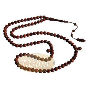 Dark Brown 8mm Turkish Koka Kuka Seed Prayer Beads Rosary Misbaha