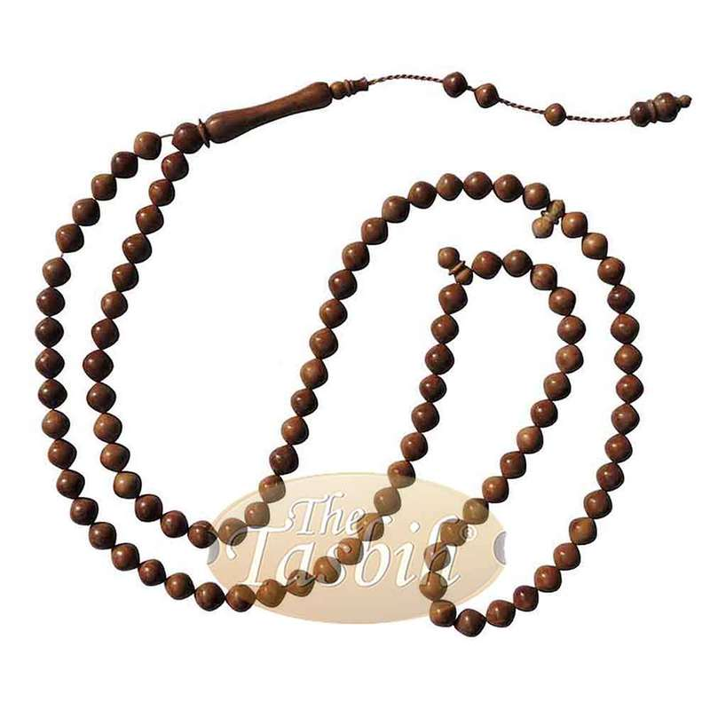 Natural 8mm Turkish Koka Kuka Rosary Prayer Tapered Round Beads