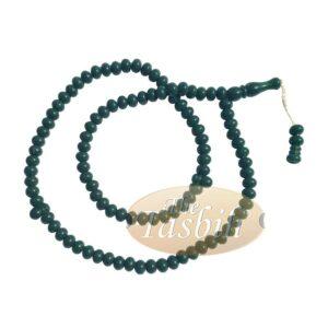 Small Forest Green Plastic Tasbih 6x5mm Beads Muslim Dhikr Zikr Prayer