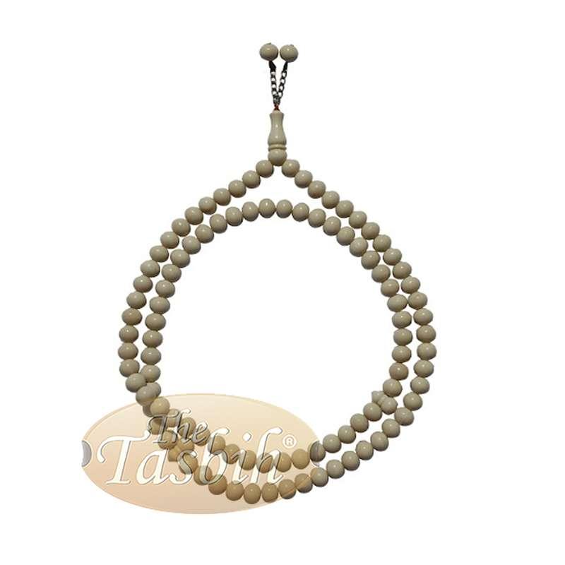 Large 12x9mm Cream Color Monomer Tasbih Prayer Beads Bead Chain Tassel