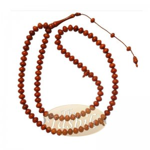 8x10mm Caramel Color Monomer Misbaha Prayer Beads Islamic Rosary