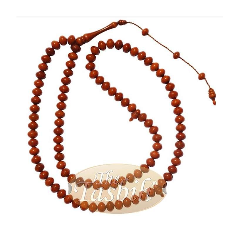8x10mm Caramel Color Monomer Misbaha Prayer Beads Islamic Rosary