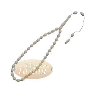 Tapered Oval Shape Small Camel Bone 33-bead 7.5x10mm Muslim Tasbih