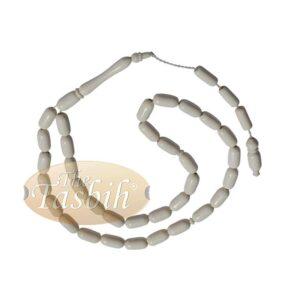 Rounded Cylinder Shape Camel Bone 33-bead Turkish Prayer Beads