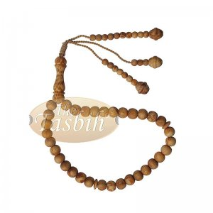 Scented 33-bead Pine Pitch Wood Prayer Beads Rosary 8mm Wood Tasbih