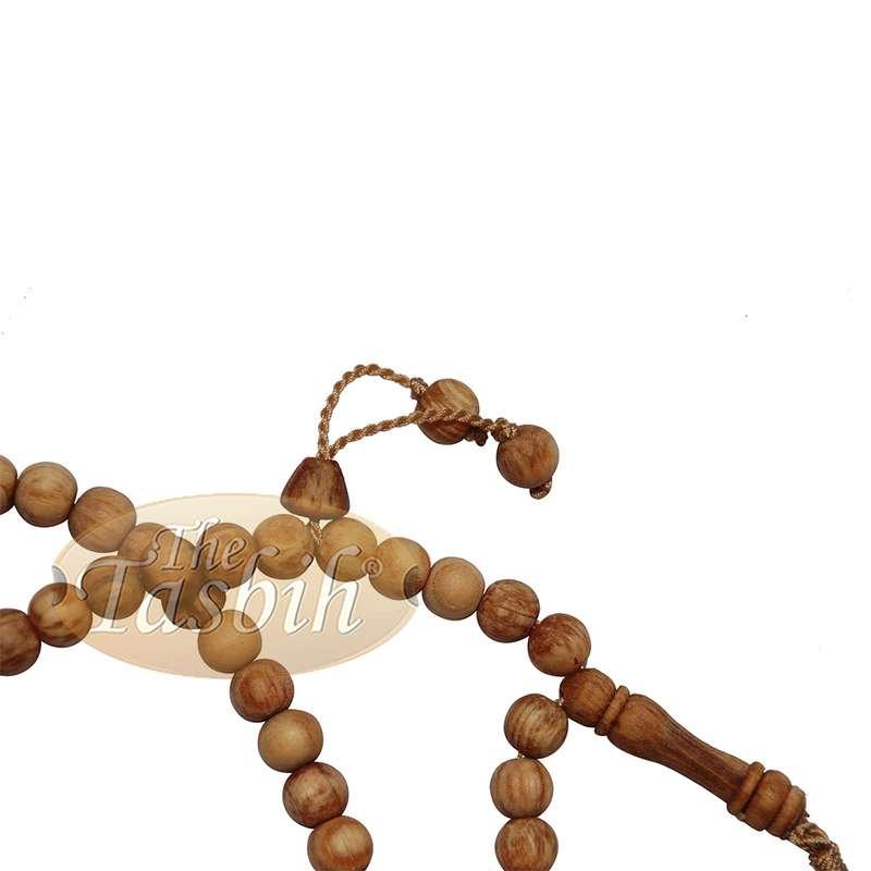 Large Scented Pine Wood Tasbih 10-mm Beads Muslim Prayer Beads