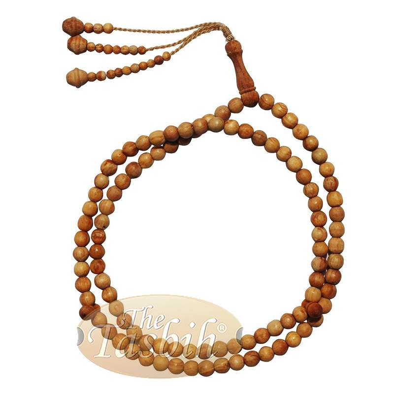 12 Naturally Scented Pine Pitch Wood Prayer Beads 8mm 99-bead Rosary