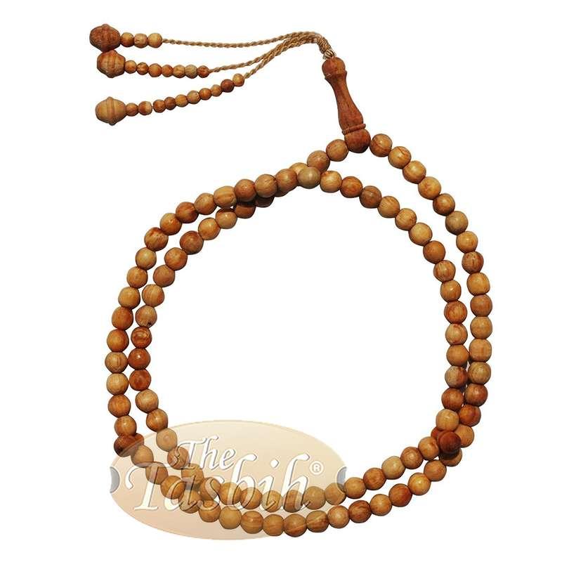Naturally Scented Pine Wood Prayer Beads 8mm Tasbih 99-bead Tesbih