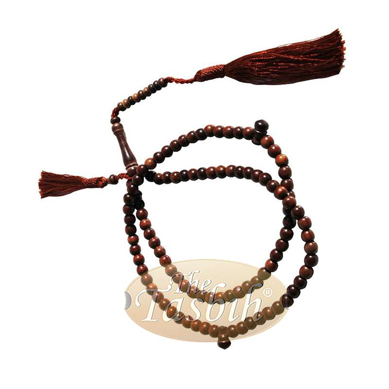 Small Exotic Ironwood 6mm Prayer Beads Tasbih Matching Tassels 99ct