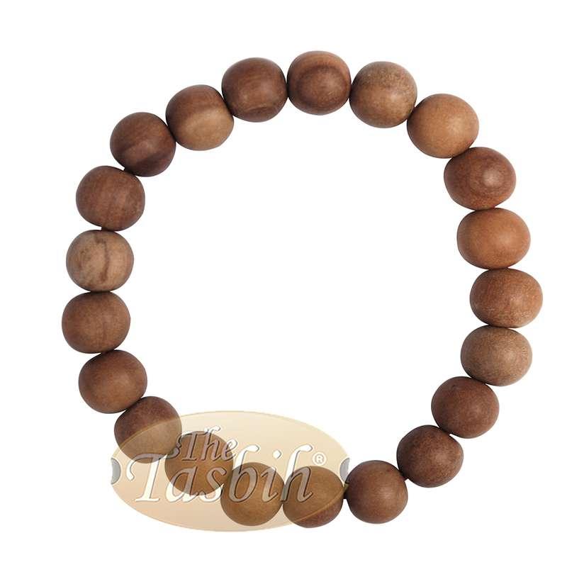 Sandalwood Prayer Beads 11mm Bracelet 21-beads Red Elastic String