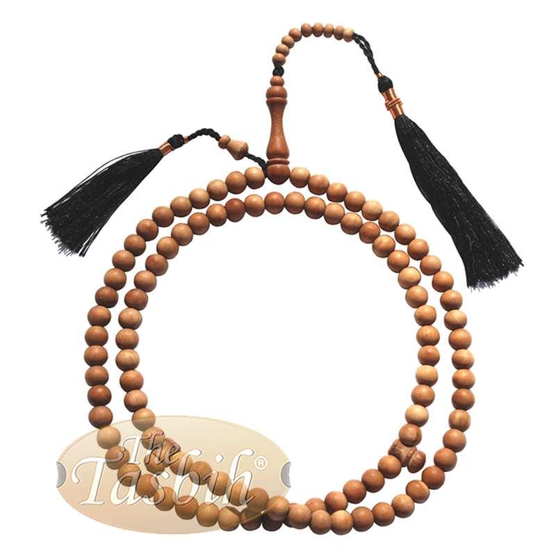 Sandalwood Dhikr Prayer beads 8mm-bead Tasbih Prayer Beads Misbaha Subha with Black Tassels