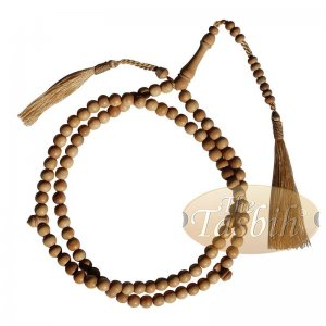 Matching Brown Tassel Sandalwood Prayer Beads 8mm Bead Tasbih Rosary