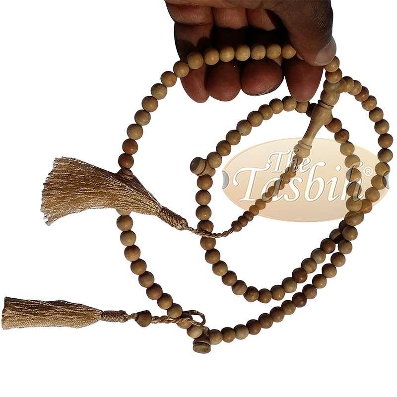 Matching Brown Tassel Sandalwood Prayer Beads 8mm bead Tasbih Rosary