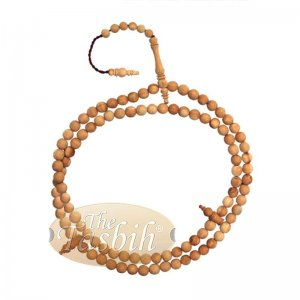 Handcrafted Naturally Scented 10mm Sandalwood Tasbih With Ornamental Alif & Dividers