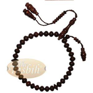 Tamarind Fruit Tree Wood Contoured-bead 10x9mm 33ct Islamic Rosary Tasbih Prayer Beads
