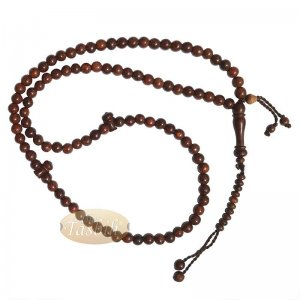 Tamarind 6mm Dense Wood Muslim Rosary Tasbih 99-beads & Counters