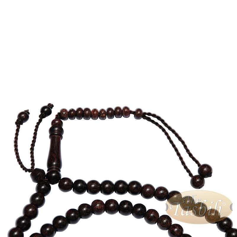 Tamarind Wood Muslim Rosary 8mm-bead Dense Wood Tasbih with 99-beads