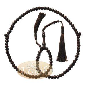 Economy Dense Tamarind Tree Tasbih – 8mm 99-Bead Prayer Beads – Worry Beads With 2 Beautiful Tassels