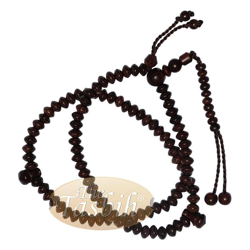 Flat Saucer 5mm Tamarind Tasbih 99 Beads Brown Tassels