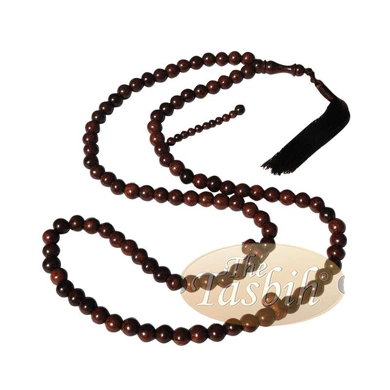 Unique Extra Large Dense Tamarind Wood Tasbih - Islamic Prayer Beads - 12mm Beads with Tassel
