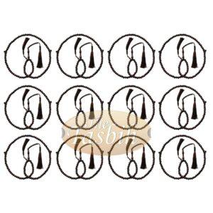 12 Wholesale Prayer Beads Dense Tamarind Wood 8mm 99-bead Tassels