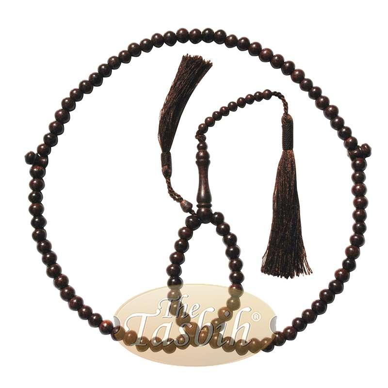Tamarind Tree Tasbih 8mm 99-bead Prayer Beads Worry Beads 2 Tassels
