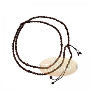 Naksibendi Tasbih Tamarind Wood 4mm Oval Prayer Beads