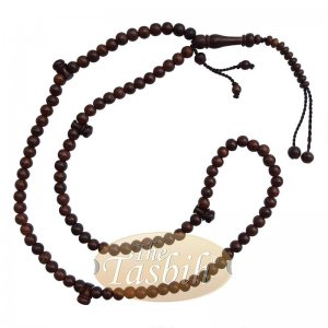 Tamarind Wood Tijani Tasbih 8mm-bead Handmade Dark Brown Wooden Prayer Beads
